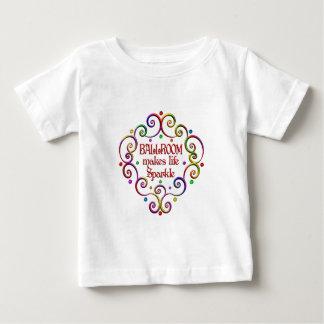 Sparkles do salão de baile camiseta para bebê