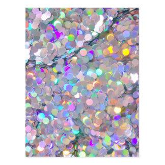 Sparkles dos confetes do brilho cartões postais
