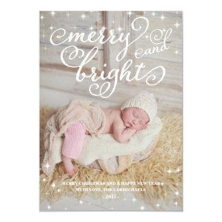 Sparkling chique cartão com fotos alegre & convites