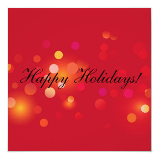 Sparkling crepuscular vermelho para os feriados convite quadrado 13.35 x 13.35cm