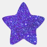 Sparkly infinito do universo da faísca do brilho adesivos em forma de estrelas