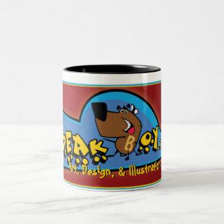speakboy.com, arte, design, & ilustração, caneca de café em dois tons