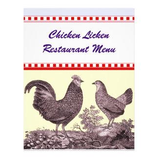 Specials customizáveis do menu do restaurante da g panfleto personalizados