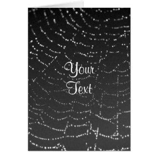 Spiderweb Sparkling Cartão Comemorativo