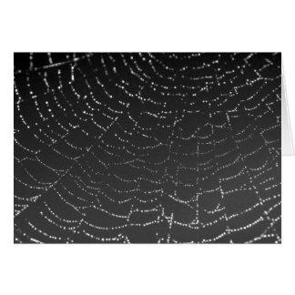 Spiderweb Sparkling Cartão De Nota