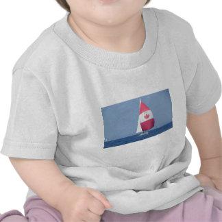 Spinnaker canadense da bandeira camisetas