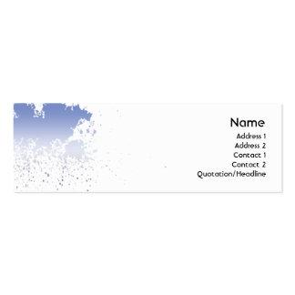 Splatter azul - magro cartões de visitas