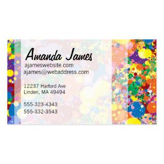Splatter da pintura do arco-íris cartão de visita