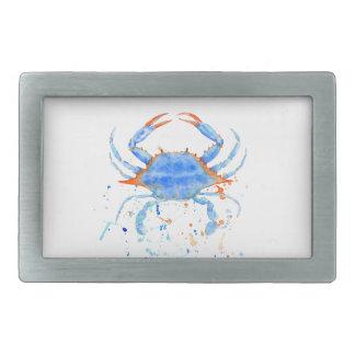 Splatter da pintura do caranguejo azul da aguarela