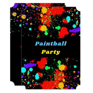 Splatter de néon da pintura, convite de festas do