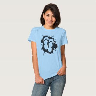 Splatter dos flip-flops t-shirt