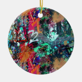 Splatter dos grafites e da pintura ornamento de cerâmica