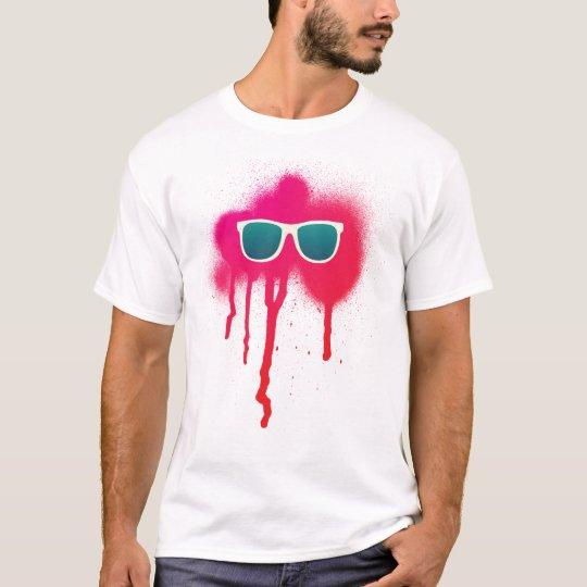Splatter retro dos óculos de sol camiseta
