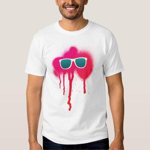 Splatter retro dos óculos de sol tshirts