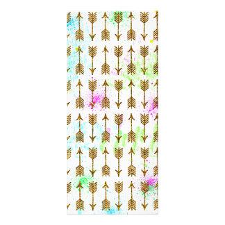 Splatters das aguarelas das setas do efeito do 10.16 x 22.86cm panfleto