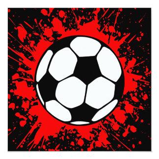 splatz do futebol convite quadrado 13.35 x 13.35cm