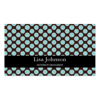 Spotted Polka Dots Interior Designer Card Business Card Templates