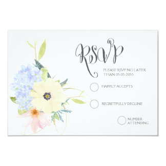 Spring Floral Wreath Wedding RSVP Cards