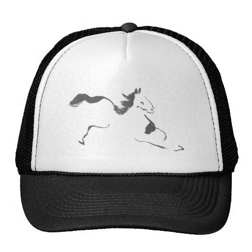 Sprint, um cavalo de galope, sumi-e bonés