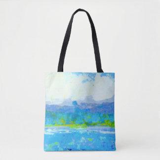 Squall do verão por todo o lado na sacola do bolsa tote
