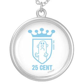 Sr. azul Significado Crista & coroa Colar Com Pendente Redondo