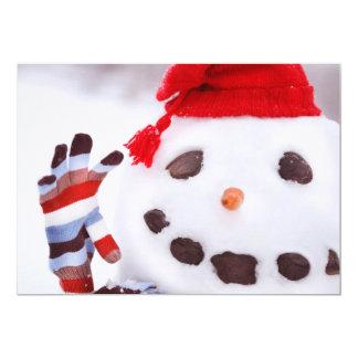 Sr. Boneco de neve Convite 12.7 X 17.78cm