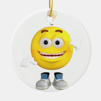 Sr. Brainy que o Emoji esse ama pensar Ornamento De Cerâmica