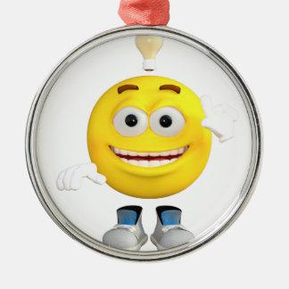 Sr. Brainy que o Emoji esse ama pensar Ornamento De Metal