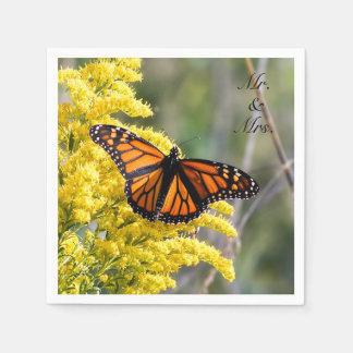 Sr. da borboleta de monarca & Sra. guardanapo de