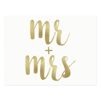 Sr. da folha de ouro & Sra. cartão