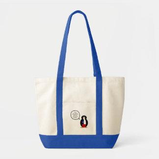 Sr. de fala chileno Pinguim Bolsa Tote