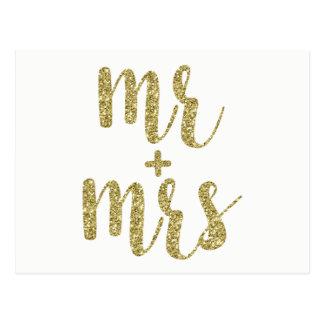 Sr. do brilho do ouro & Sra. cartão