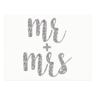 Sr. do brilho & Sra. de prata cartão
