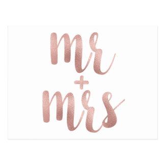 Sr. do ouro & Sra. cor-de-rosa cartão