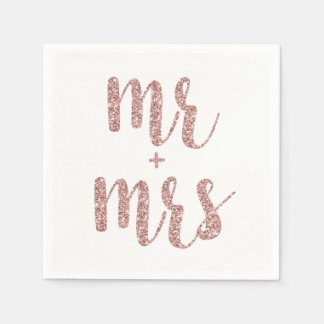Sr. do ouro & Sra. cor-de-rosa guardanapo do