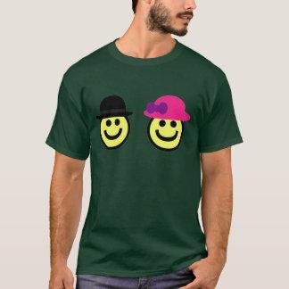 Sr. e camisa da cara T de Mrs.Smiley