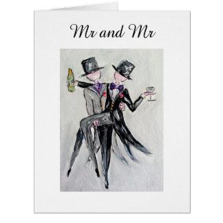 """""""Sr. e Sr."""" cartão de casamento alegre"""