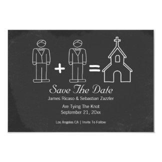 Sr. e Sr. Doodle Igreja Gay Salvamento o casamento Convite 8.89 X 12.7cm