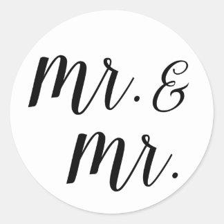 Sr. e Sr. etiquetas