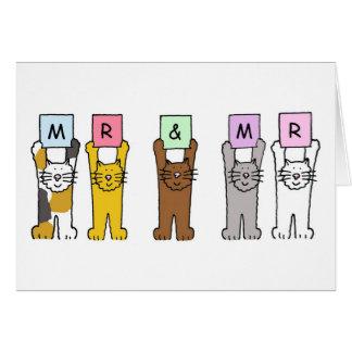 Sr. e Sr., felicitações alegres do casamento Cartão Comemorativo