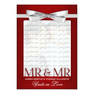 Sr. e Sr. Vermelho Casamento Foto para noivos Convite 12.7 X 17.78cm