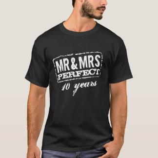 Sr. e Sra. 10o camisa da festa de aniversário t do