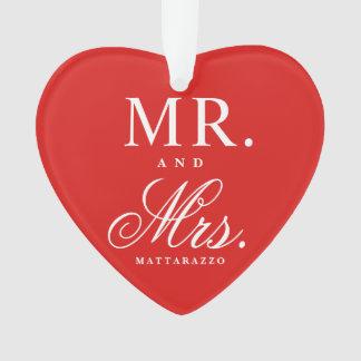 Sr. e Sra. Aniversário Lembrança Ornamento
