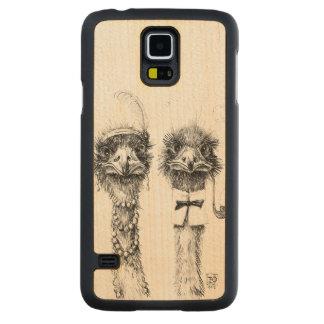 Sr. e Sra. Avestruz Capa De Bordo Para Galaxy S5