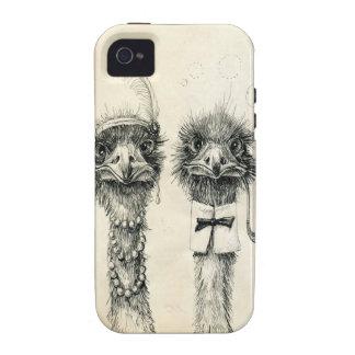 Sr. e Sra. Avestruz Capa Para iPhone 4/4S