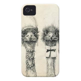 Sr. e Sra. Avestruz Capa Para iPhone 4 Case-Mate