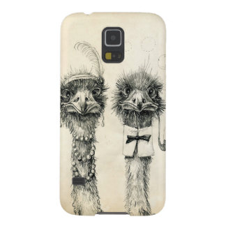 Sr. e Sra. Avestruz Capas Par Galaxy S5