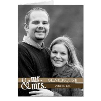 Sr. e Sra. cartões de agradecimentos - Brown