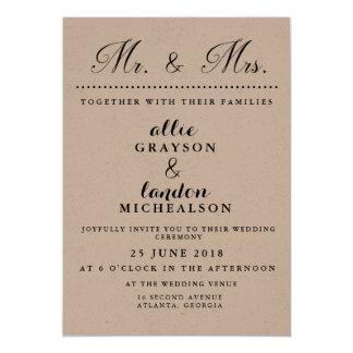 Sr. e Sra. Casamento Convite