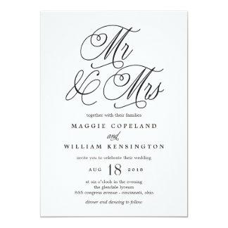 Sr. e Sra. Elegante Casamento Convite